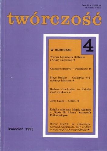 Okładka książki Twórczość, nr 4 (593) / 1995