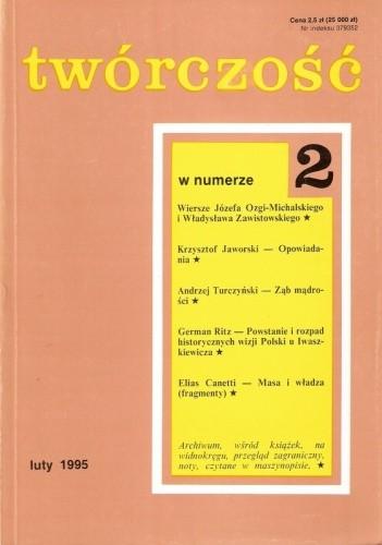 Okładka książki Twórczość, nr 2 (591)/ 1995