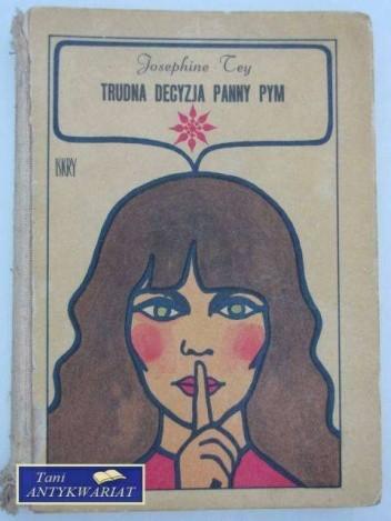 Okładka książki Trudna decyzja panny Pym