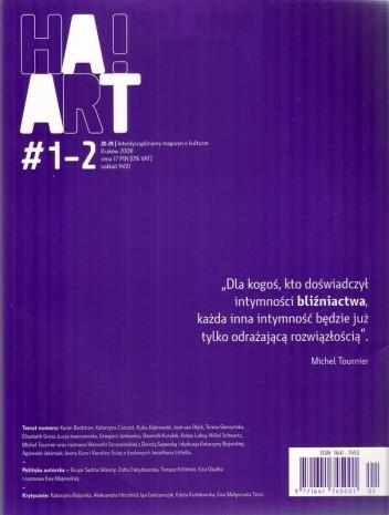Okładka książki Ha!art, nr 1-2 (28-29) / 2009