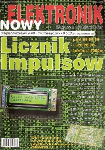 Okładka książki Nowy Elektronik, nr 4 / sierpień-wrzesień 2009