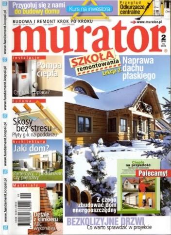 Okładka książki Murator, 2 (310) / luty 2010