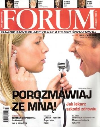 Okładka książki Forum, nr 37 (2246) / 8.09-14.09.2008