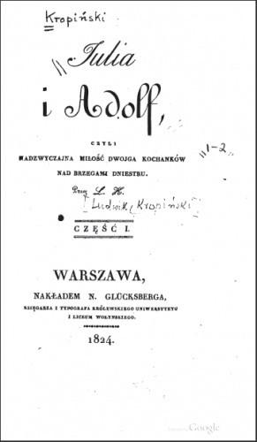 Okładka książki Julia i Adolf, czyli nadzwyczajna miłość dwojga kochanków nad brzegami Dniestru