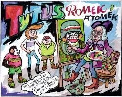 Okładka książki Tytus, Romek i A'Tomek jako warszawscy powstańcy 1944