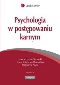 Okładka książki Psychologia w postępowaniu karnym