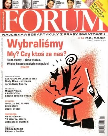 Okładka książki Forum, nr 43 (2200) / 22.10-28.10.2007