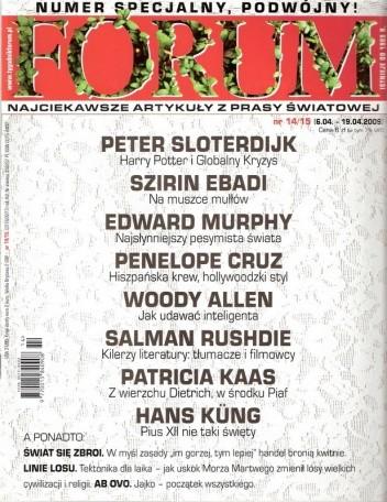 Okładka książki Forum, nr 14-15 (2276-2277) / 6.04-19.04.2009