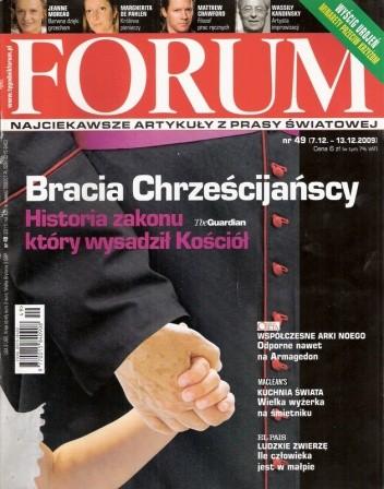 Okładka książki Forum, nr 49 (2311) / 7.12-13.13.2009
