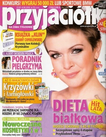 Okładka książki Przyjaciółka, nr 15 (3200), 22.07-4.08.2010