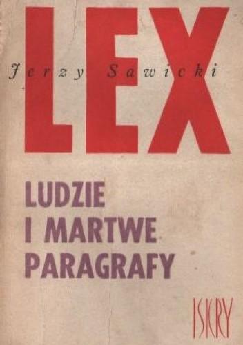 Okładka książki Ludzie i martwe paragrafy