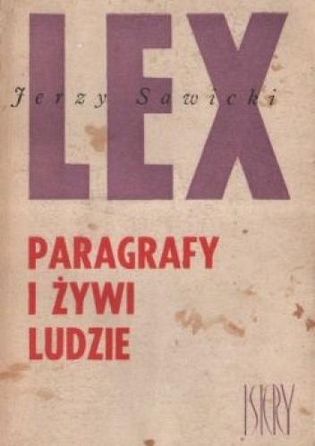 Okładka książki Paragrafy i żywi ludzie
