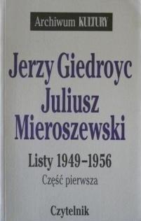 Okładka książki Listy 1949-1956. Cz. 1
