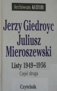 Okładka książki Listy 1949-1956. Cz. 2