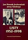 Okładka książki Listy 1952-1998