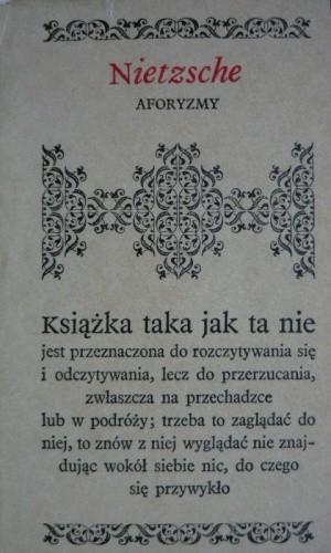 Okładka książki Aforyzmy