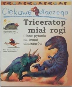 Okładka książki Ciekawe dlaczego Triceratop miał rogi