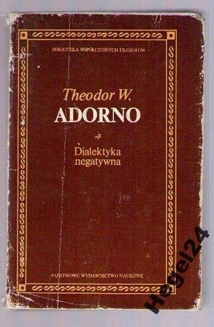 Okładka książki Dialektyka negatywna