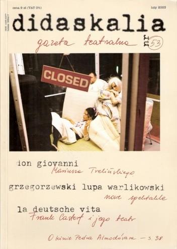 Okładka książki Didaskalia, nr 53 / luty 2003
