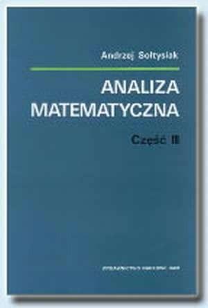 Okładka książki Analiza matematyczna, część III