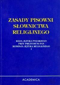 Okładka książki Zasady pisowni słownictwa religijnego