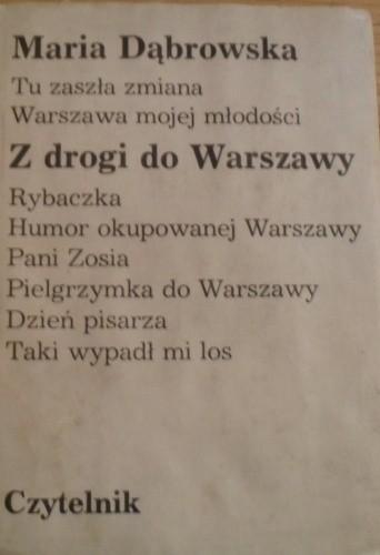 Okładka książki Z drogi do Warszawy