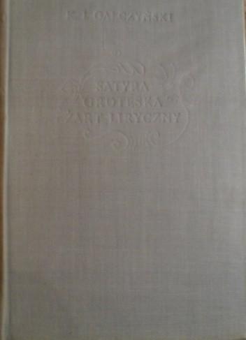 Okładka książki Satyra, groteska i żart liryczny