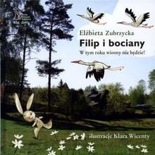 Okładka książki Filip i bociany. W tym roku wiosny nie będzie!