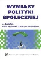 Okładka książki Wymiary polityki społecznej