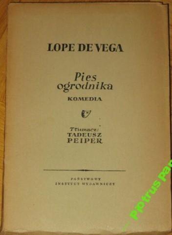 Okładka książki Pies ogrodnika