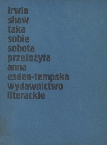 Okładka książki Taka sobie sobota