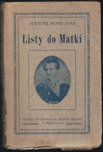 Okładka książki Listy do Matki, t. 1