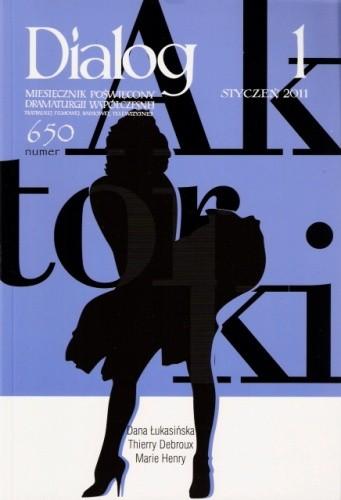 Okładka książki Dialog, nr 1 (650) / styczeń 2011. Aktorki