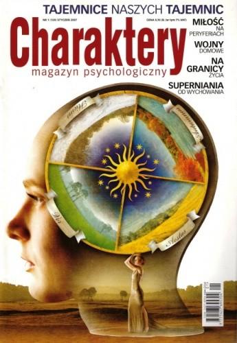 Okładka książki Charaktery, nr 1 (120) / styczeń 2007
