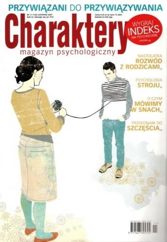 Okładka książki Charaktery, nr 11 (130) / listopad 2007