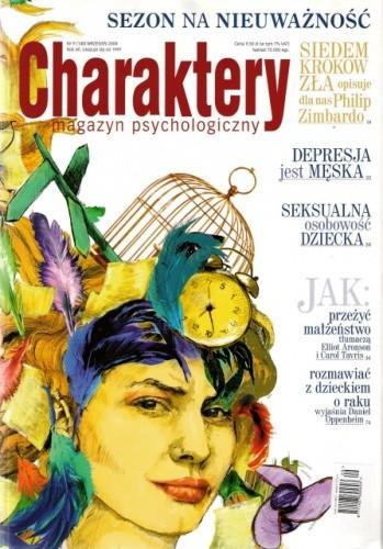 Okładka książki Charaktery, nr 9 (140) / wrzesień 2008