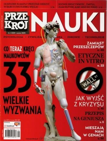 Okładka książki Przekrój Nauki, nr 1 / marzec 2009