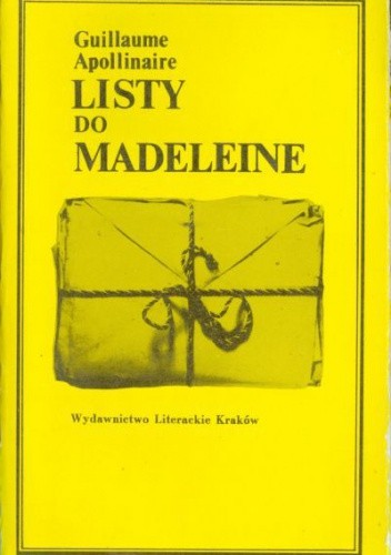 Okładka książki Listy do Madeleine