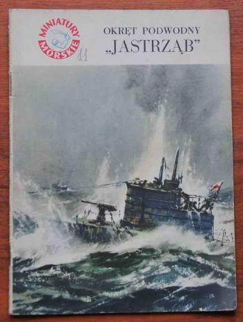 "Okładka książki Okręt podwodny ""Jastrząb"""