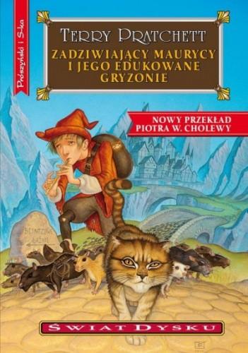 Okładka książki Zadziwiający Maurycy i jego edukowane gryzonie