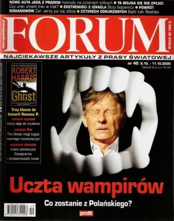 Okładka książki Forum, nr 40 (2302) / 5.10-11.10.2009