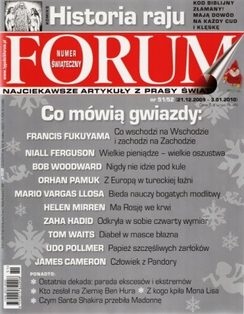 Okładka książki Forum, nr 51-52 (2313-2314) / 21.12.2009-03.01.2010