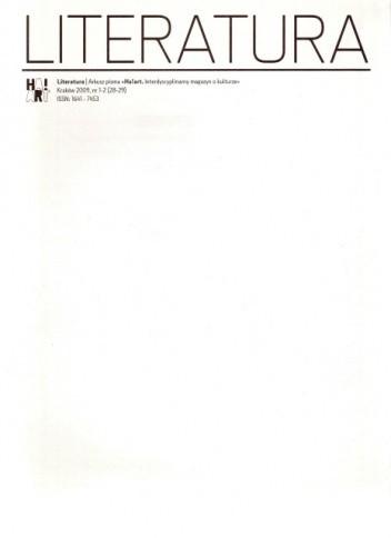Okładka książki Literatura, nr 1-2 (28-29) / 2009