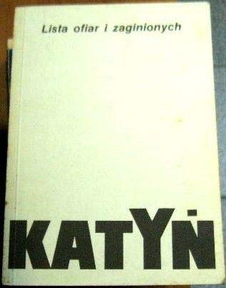 Okładka książki Katyń - Lista ofiar i zaginionych