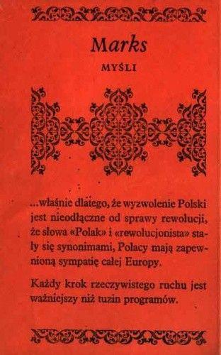 Okładka książki Myśli. Karol Marks