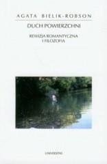Okładka książki Duch powierzchni. Rewizja romantyczna i filozofia