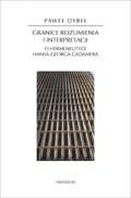Okładka książki Granice rozumienia i interpretacji. O hermeneutyce Hansa-Georga Gadamera