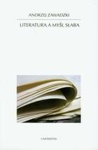 Okładka książki Literatura a myśl słaba