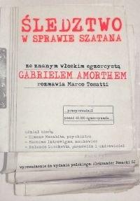 Okładka książki Śledztwo w sprawie szatana