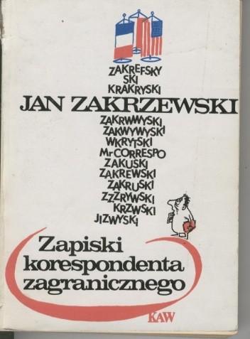 Okładka książki Zapiski korespondenta zagranicznego